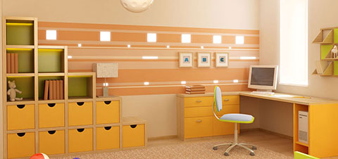LED lighting for children's room